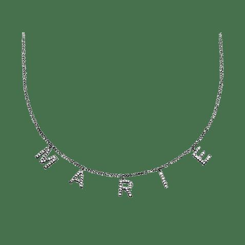 Halskette Name zirkonia Gravurbrüder
